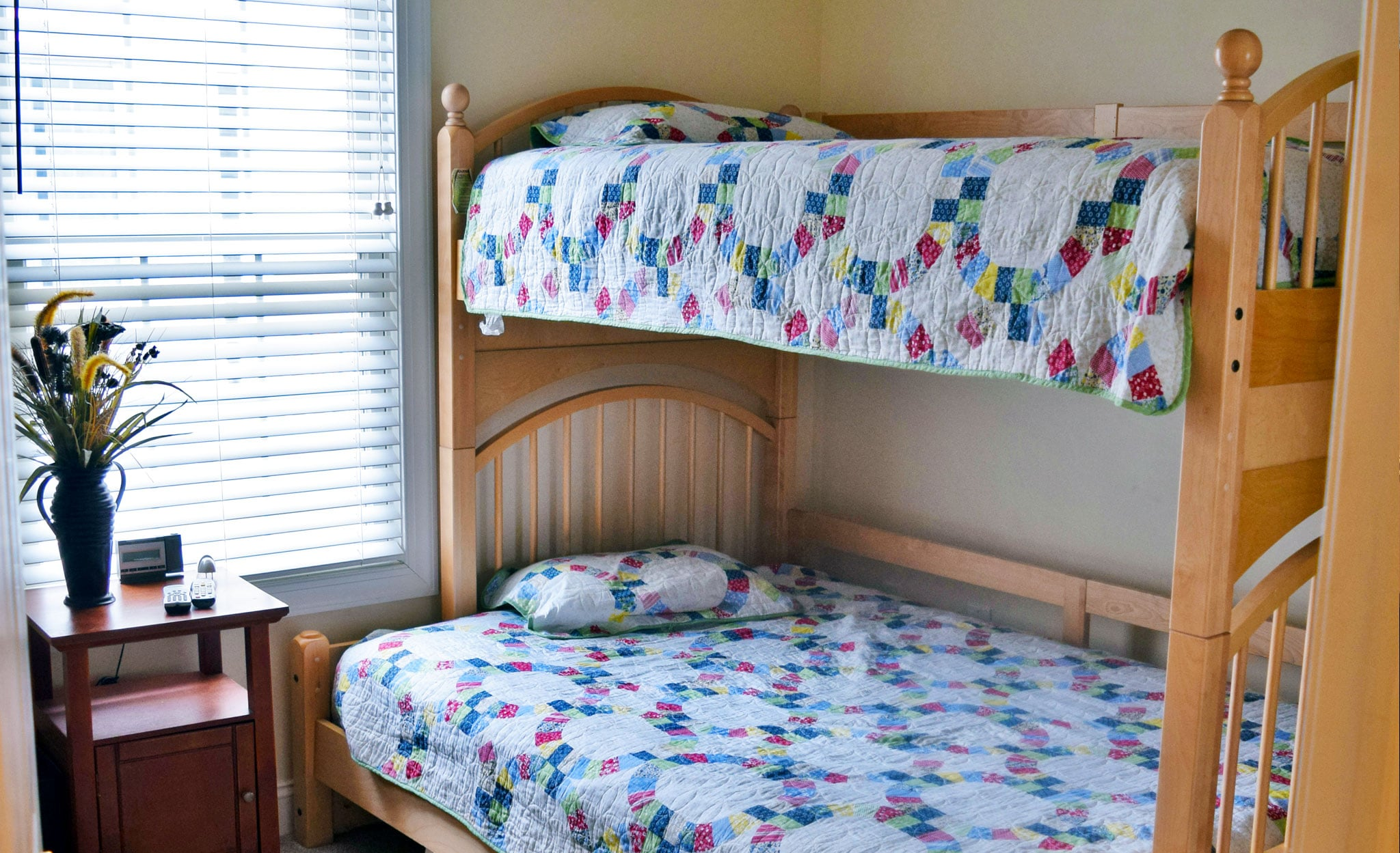 "Bunk beds - third bedroom - ""The Beachcomber"" family vacation rental in Ocean City, New Jersey."