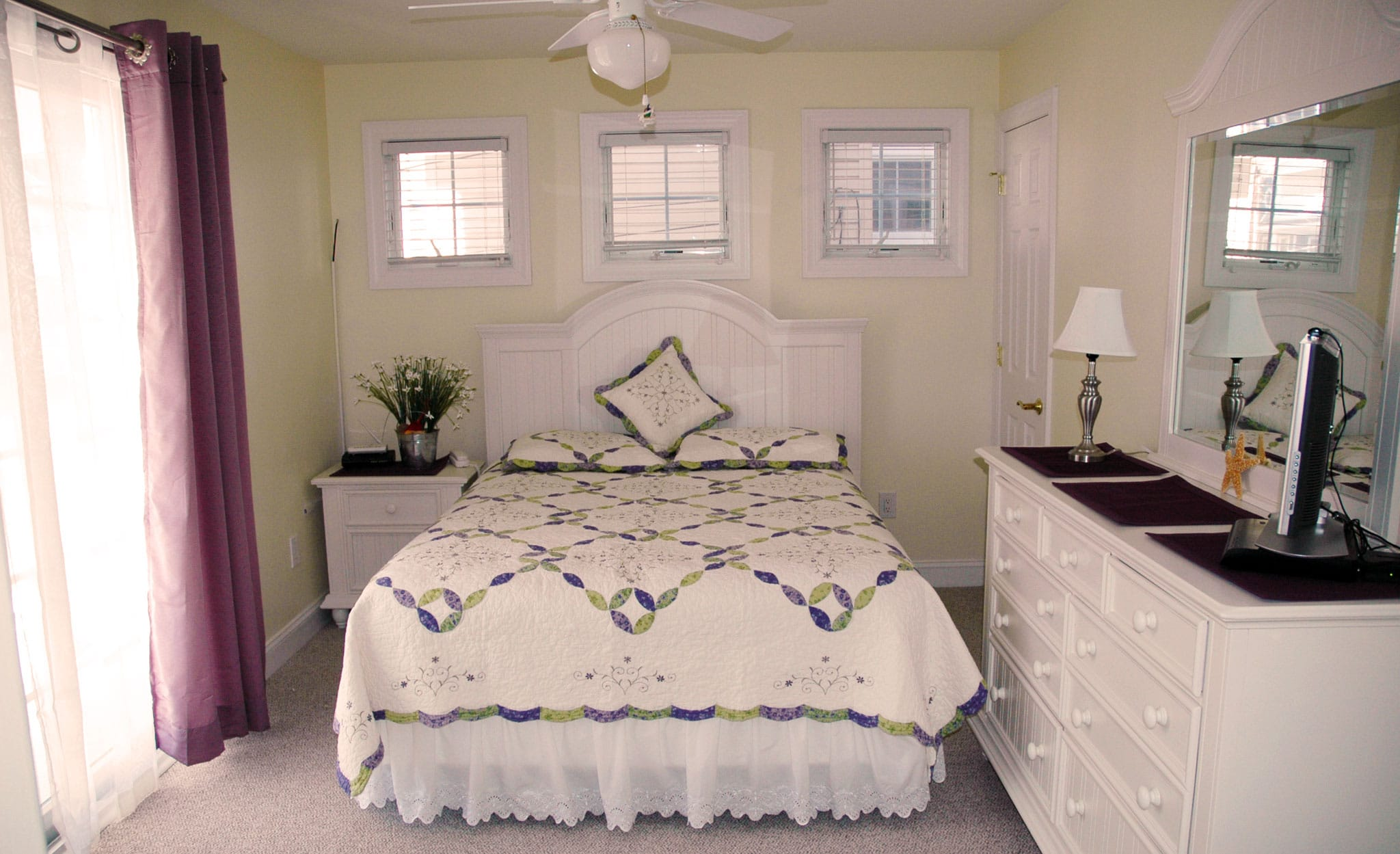 "Master Bedroom - ""The Beachcomber"" family vacation rental in Ocean City, New Jersey."