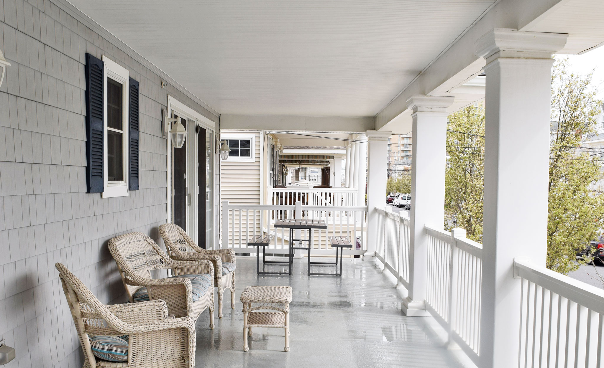 Veranda on The Beachcomber. Ocean City, New Jersey Vacation Rental - Tall View