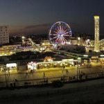 Ocean City, New Jersey at night