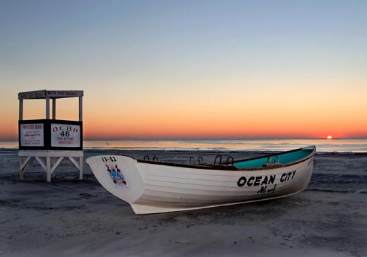 Lifeboat at sunrise - Ocean City, New Jersey